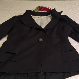 cAbi ladies black blazer size 8